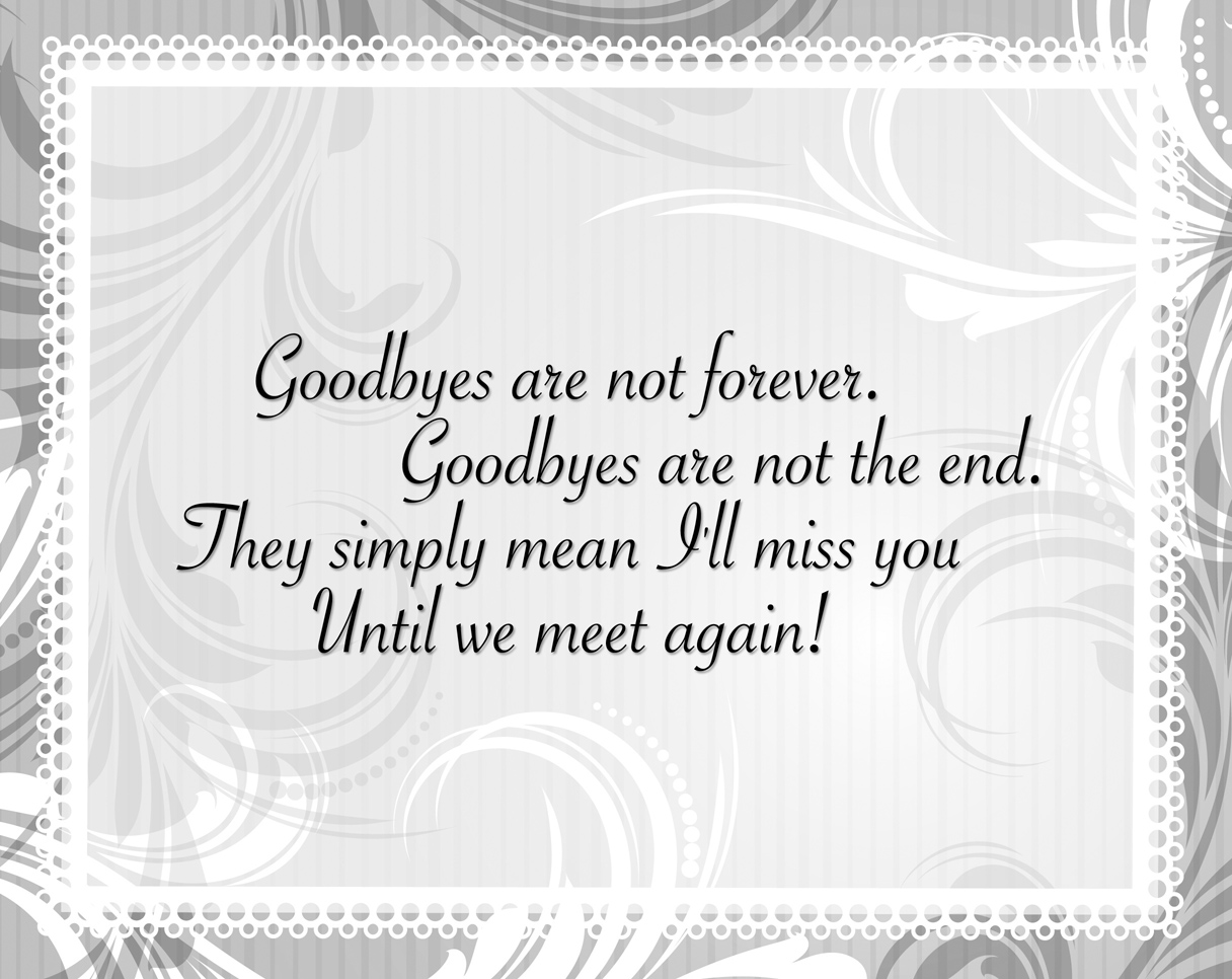 Touching Farewell Quotes