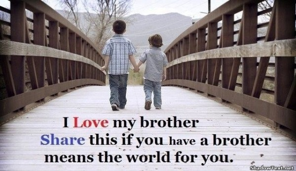 Loving brothers