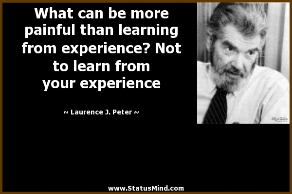 famous quotes about experience